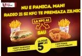 5 x voucher de 200 lei ce include 40 de meniuri din oferta curenta KFC