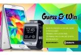 1 x smartphone Samsung Galaxy S5 + smartwatch Samsung Gear 2 Neo