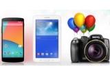 1 x Aparat foto Benq GH800, 1 x Telefon mobill LG Google Nexus 5, 1 x Tableta Samsung Galaxy Tab 3 Lite T110