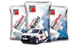 1 x masina Dacia Dokker Van, 30 x tableta Samsung T110, 30 x masina de taiat placi ceramice Elipper TT 180 BM, 1000 x tricou branduit Baumit, 1000 x salopeta branduit Baumit