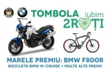 "1 x motocicleta BMW F800R, 1 x bicicleta BMW Cruise M-Bike, instant: tricoul official ""Iubim 2 Roti"" 2014"