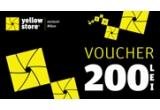 1 x voucher Yellow Store in valoare de 200 lei