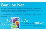 3 x telefon Samsung Galaxy S5, 57 x voucher de 200 lei