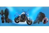 1 x motocicleta Yamaha MT07, 1 x Casca Arai + geaca Laguna Seca D - Dry + manusi Carbon Cover S-ST, 1 x Combinezon ploaie Bruxelles + brau Belt Tiger + cagula Sottocasco + protectie spate New Bap