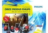 1 x Televizor LED Philips Full HD, 1 x Televizor LED Philips Imagine HD, 1 x Smart TV LED Philips Full HD, 2 x Ceas cu radio Philips, 1 x Radio casetofon cu CD Philips