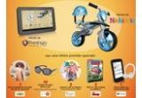 """10 x pereche de ochelari de soare pentru copii, 1 x tableta Prestigio MultiPad 7″ Ultra+, 1 x  bicicleta fara pedale cu casca Injusa Jumper Balance Bike, 1 x ebook reader Prestigio, 1 x pereche de casti Prestigio, 3 x loc la atelierele de vara oferite de asociatia DaDeCe, 2 x costumas pentru bebelusi, 2 x dvd cu filmul """"Sta sa ploua cu chiftele 2″, instant: ebook Vrajitorul din Oz de L. Frank Baum"""
