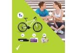 6 x bratara de monitorizare a activitatii fizice Jawbone, 1 x bicicleta in valoare de 2500 lei, 1 x voucher de cumparaturi in valoare de 450 lei, 20 x set cadou Rexona