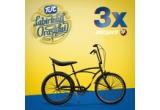 3 x bicicleta Pegas Strada 1 Single Speed Negru Asfalt, 10 x kit explorator TUC (un kit contine in total 10 pachete de biscuiti TUC – cate 2 pachete din 5 arome/modele diferite)