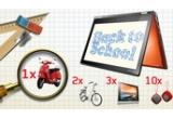 1 x scuter Vespa Primavera, 2 x bicicleta Cupper 2666 - 21V model 2013, 3 x tableta Lenovo Yoga, 50 x boxa Lenovo Multimedia Lenovo - BT410, 500 x  Geanta Lenovo – T1050 + Mouse Lenovo – M300 +  Pereche de Casti Lenov – P165