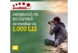 1 x voucher evoMag in valoare de 1.000 de lei valabil pentru produsele Nikon din magazinul online evoMag.ro
