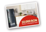 1 x 10.000 de lei pentru o bucatarie noua, 100 x bax ulei Unisol, 100 x tichet cadou de 200 RON, 100 x sort de bucatarie Unisol