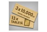 13 x tableta Apple iPad Air, 3 x 10.000 lei de cheltuit in vacanta