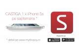 7 x iPhone 5S, 7 x voucher de cumparaturi in valoare  de 500 lei, 7 x voucher de cumparaturi in valoare  de 200 lei