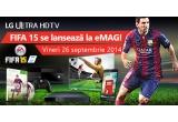 1 x Consola Xbox One + Joc FIFA 15, 1 x Televizor Smart LED LG 106 cm, 1 x Telefon mobil LG L90, 1 x Soundplate LG, 10 x Joc Fifa 15