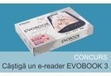1 x e-Reader Evobook 3 cu 100 de carți preinstalate + Gift Card de 20 de lei