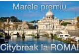 1 x city break pentru doua persoane la Roma, 1 x voucher Matar.ro de 300 de ron, 1 x voucher Matar.ro de 200 de ron, 6 x voucher Matar.ro de 100 de ron