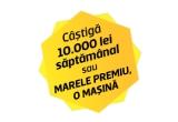 16 x 10.000 lei, 1 x masina Dacia Duster Laureate