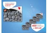1 x card de carburant MOL Blue in valoare de 30.000 Lei, 400 x card de carburant MOL Blue in valoare de 300 Lei