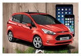 1 x masina Ford B MAX, 5 x iPhone 5S, 5 x iPad Mini
