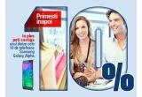 10 x telefon Samsung Galaxy Alpha, instant: 10% cash-back din valoarea tranzactiilor efectuate la comercianti si nu mai mult de 100 RON/card