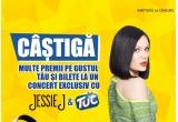 7 x pachet Jessie J Show(city break Paris + 2 bilete la un concert live Jessie J), 15 x tableta Samsung Galaxy Tab 4, 640 x pereche caști audio pliabile Scott