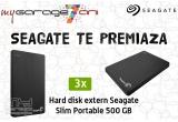 3 x HDD extern Seagate Slim Portable 500 GB