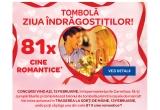 81 x cina romantica pentru tine si perechea ta, 1350 x pachete cu vin + bomboane de ciocolata