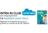 9 x pachet de scutece Pampers Giant Pack Active Baby, garantat: vouchere Noriel de 20 ron