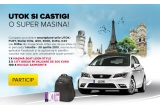 1 x masina Seat Leon Style 1 .2 TSI 1 05 CP, 3 x Voucher City Break Perfect Tour, 100 x rucsac Samsonite
