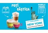 1 x excursie pentru 2 persoane la New York + 2 bilete de acces la Muzeul de Arta Moderna din New York + 1400 dolari diurna, 6.200 x set de accesorii Nescafe Dolce Gusto