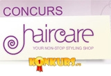 "intre unul si 3 produse profesionale de ingrijire a parului, oferite de <a href=""http://www.haircare.ro"" target=""_blank"" rel=""nofollow"">HairCare.ro</a><br />"