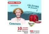 10 x circuit turistic Sinaia – Timisoara – Roma - Napoli, 500 x rucsac de picnic