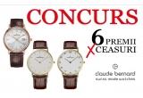 2 x ceas dama Claude Bernard, 2 x ceas barbatesc Claude Bernard, 2 x ceas unisex Claude Bernard