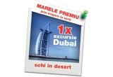 1 x excursie de 2 persoane in Dubai + abonament de ski pass, 2 x fotoliu Puf, 3 x espressor automat Bosch Tassimo Vivy TAS 1252, 3 x acumulator extern 4.600 mAh, 305 x punga de Persil Power-Mix 28 de spalari,