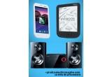 1 x telefon mobil, 1 x sistem audio, 1 x ebook reader