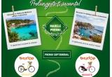 1 x Excursie Palma de Mallorca sau Antalya, 6 x Bicicleta Romet SYMFONIA bej/Romet CAMEO 3 Rosu, 12 x Voucher Optiplaza de 500 ron, 42 x Set produse protectie solara Garnier