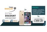 1 x iPhone 6, 7 x voucher Elefant de 1000 ron