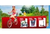 100 x trotineta Worker Joybold, 100 x bicicleta DHS Alu Kids, 100 x skateboard Sportman Full