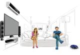 1 x televizor Smart LED Full HD Samsung cu diagonala de 109 cm