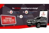 465 x 500 ron, 1 x masina Dacia Duster