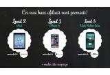 1 x iPhone 6, 1 x iPad Air, 1 x smartphone UTOK Stellar Elite, 1 x voucher Cadou YellowStore de 250 lei + card de memorie SanDisk 32GB SDHC, 1 x voucher Cadou YellowStore de 100 lei + card de memorie SanDisk 32GB SDHC, 4 x bonus in valoare de 100 de lei