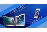 8 x set de produse Apple (iPhone 6 + iPad Air 2 + MacBook Pro), 56 x iPhone 6, 157.500 x pachet tigarete