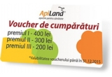 1 x voucher Apiland de 400 ron, 1 x voucher Apiland de 300 ron, 1 x voucher Apiland de 200 ron