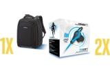 1 x Rucsac laptop Samsonite, 2 x pereche de casti SMS Audio Biosport