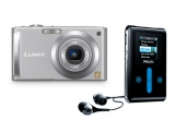 1 x aparat foto digital Panasonic DMC-FS3E-S, 1 x MP3 Player Philips GoGear Jukebox HDD1630 (6GB), 1 x geanta notebook SERIOUX SNC-EL1-15, polyester, 15 x stick USB<br />