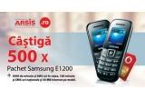 500 x pachet prepaid Samsung E1200i (Telefon Mobil Samsung E1200i + cartela preplatita Vodafone cu numar)