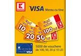 4.000 x card cadou Kaufland de 10 lei, 500 x card cadou Kaufland de 20 lei, 300 x card cadou Kaufland de 50 lei, 200 x card cadou Kaufland de 100 lei