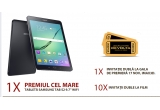 """1 x Tableta Samsung Galaxy Tab S2 9.7"""" WIFI, 1 x  Invitatie dubla la gala de premiera """"Jocurile Foamei – Revolta, Partea II"""" la Cinema City din Afi Palace Cotroceni, 10 x Invitatie dubla la filmul """"Jocurile Foamei – Revolta, Partea II"""""""