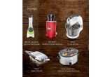 1 x Mixer Breville, 1 x Juicer - Storcator multifiunctional Vitajuicer, 1 x Slow cooker 3.5L Manual Chrome Crock-Pot, 1 x Blender personal Blend Active Breville, 1 x Panini Maker Breville