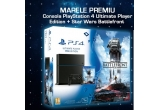 1 x consola PlayStation 4 Ultimate Player Edition + jocul Star Wars Battlefront, 2 x joc pc StarCraft II: Legacy of the Void, 2 x joc Call of Duty Black OPS 3 PS4, 2 x Destiny: The Taken King Collector's Edition PS4